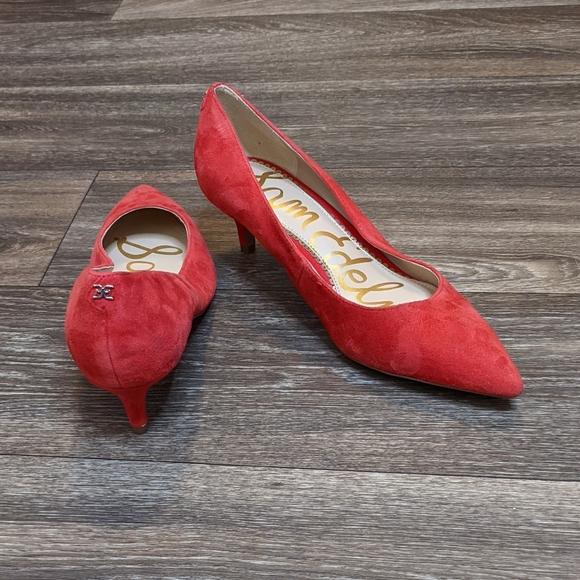 Sam Edelman Dori red 7.5 kitten heels